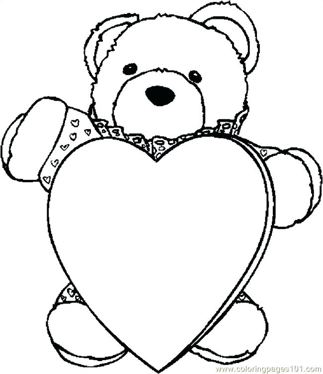 650x753 Coloring Pages Bear Chic Design Teddy Bear With Heart Coloring