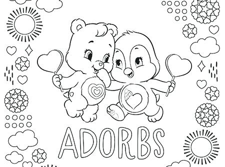 450x334 Coloring Pages Of Bears Meet Brave Heart Lion Care Bears Coloring
