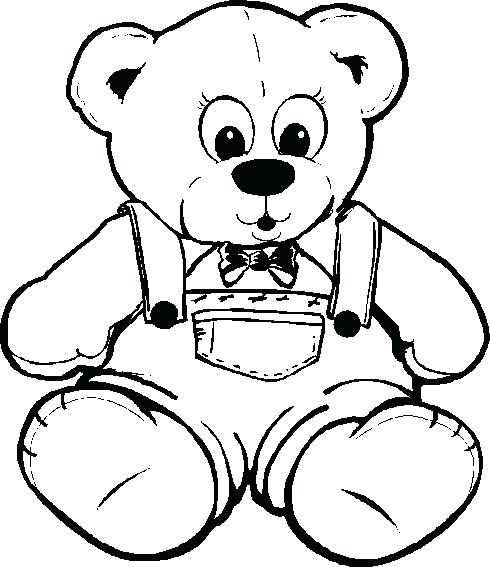 490x567 Free Printable Teddy Bear Coloring Pages Free Printable Teddy Bear
