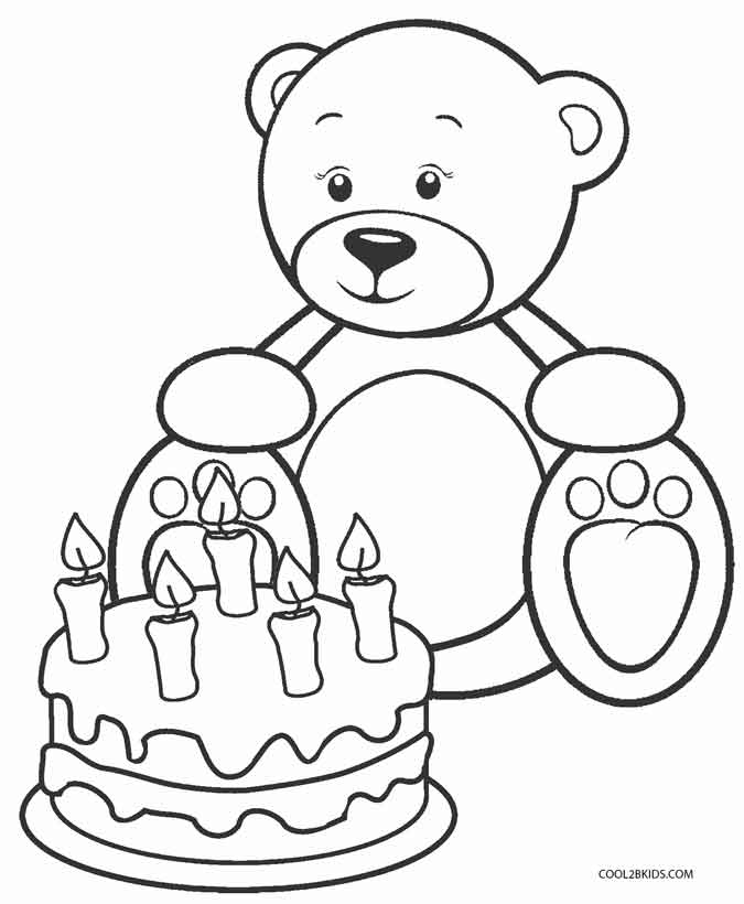 675x820 Printable Teddy Bear Coloring Pages For Kids