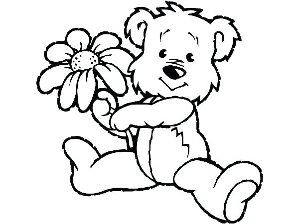600x450 Teddy Bear Coloring Page Teddy Bear Coloring Pages To Print Epic