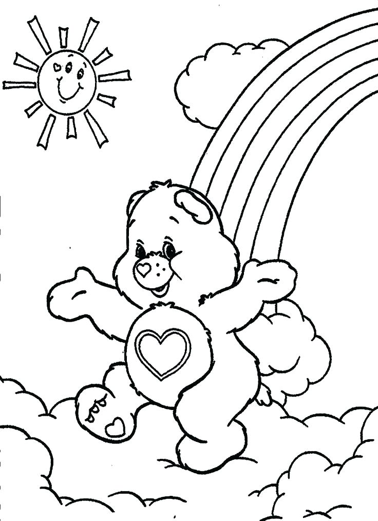 736x1014 Care Bear Coloring Book Plus Free Teddy Bear Coloring Pages