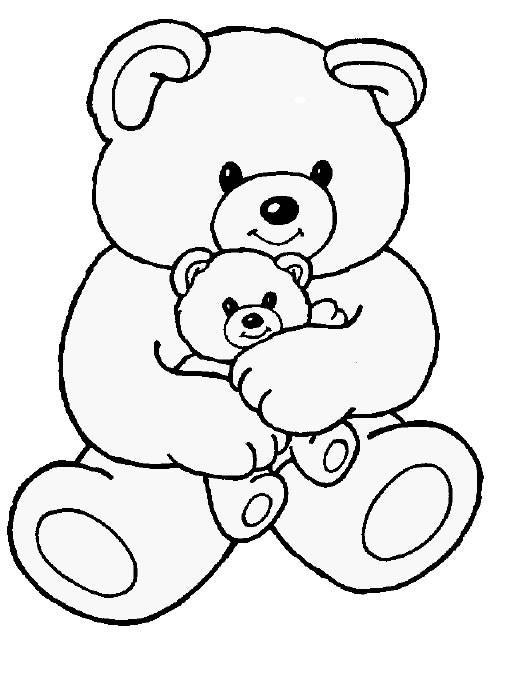 509x677 Teddy Bear Coloring Pages Print Outs For Alluring Cute Acpra