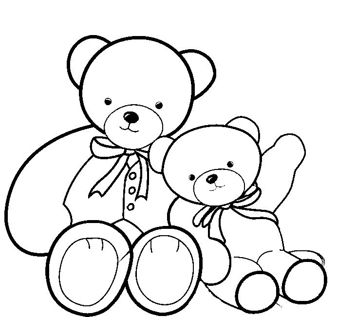692x651 Teddy Bear Coloring Pages Printable