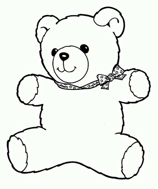 600x718 Colouring Teddy Bear Wonderful Teddy Bear Coloring Page