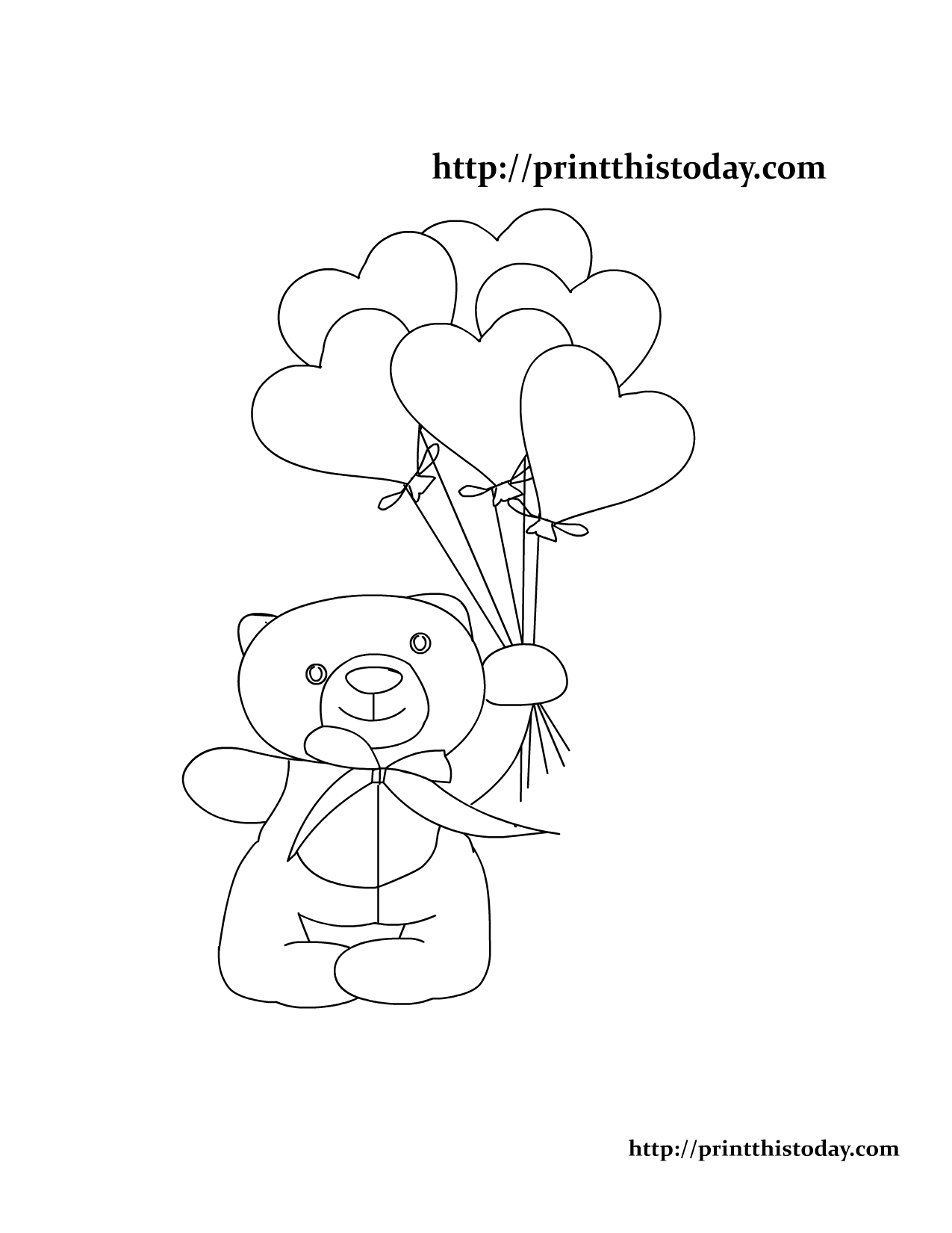 1275x1650 Free Printable Teddy Bear Coloring Pages