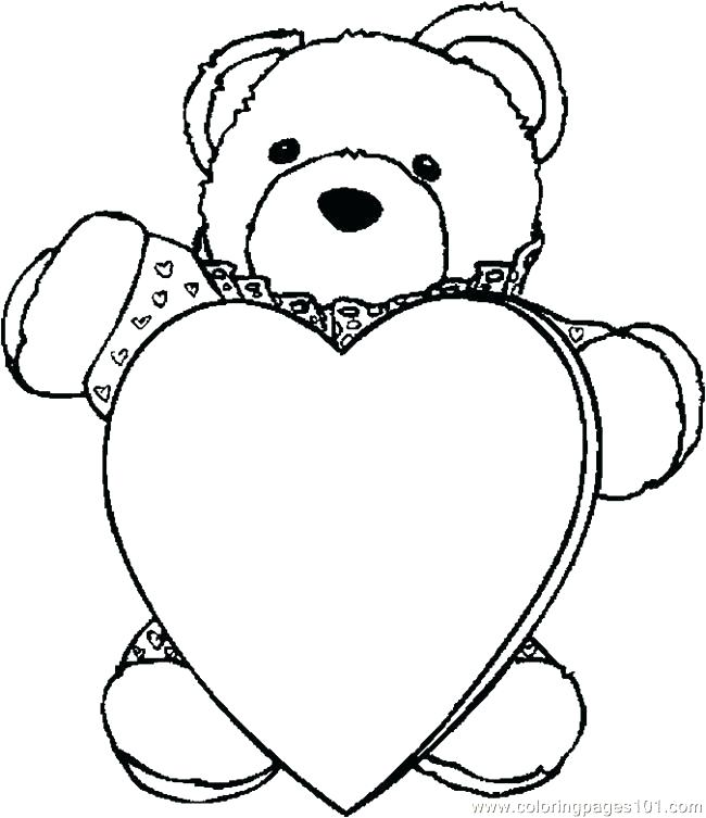 650x753 Bear With Heart Coloring Page Coloring Page Bear Printable Hearts