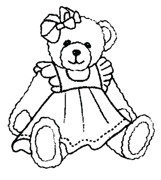 652x731 Beautiful Teddy Bear With Heart Coloring Pages And This Page