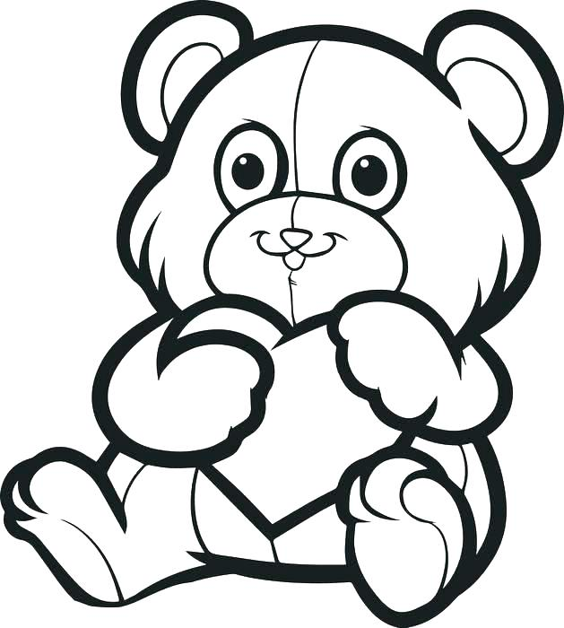 629x700 Care Bears Coloring Sheets Printable Activity Heart Elephant Page