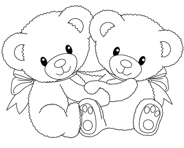 736x595 Coloring Pages Teddy Bears Teddy Bear Holding A Heart Drawing