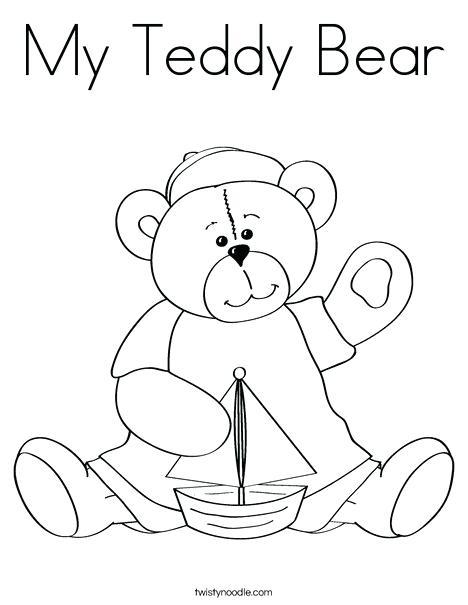 468x605 Teddy Bear Coloring Page Cutie Bear Coloring Page Teddy Bear