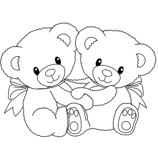 600x600 Teddy Bear Coloring Pages Teddy Bear Picnic Coloring Pages Teddy