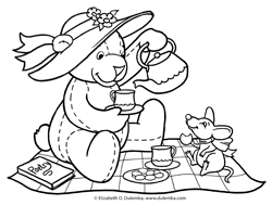 Teddy Bear Picnic Coloring Pages at GetDrawings.com | Free ...