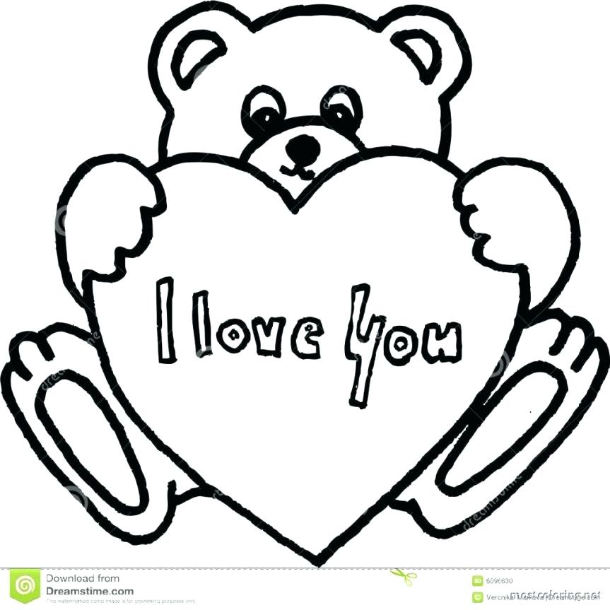 863x863 I Love Mom Coloring Pages Printable Coloring Pages Teddy Bear