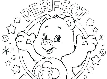 450x334 Preschool Coloring Pages Teddy Bear With Heart Coloring Pages