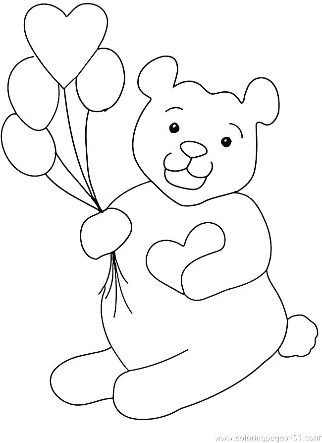 650x893 Teddy Bear Colouring Pages Plus Teddy With Heart Colouring Page