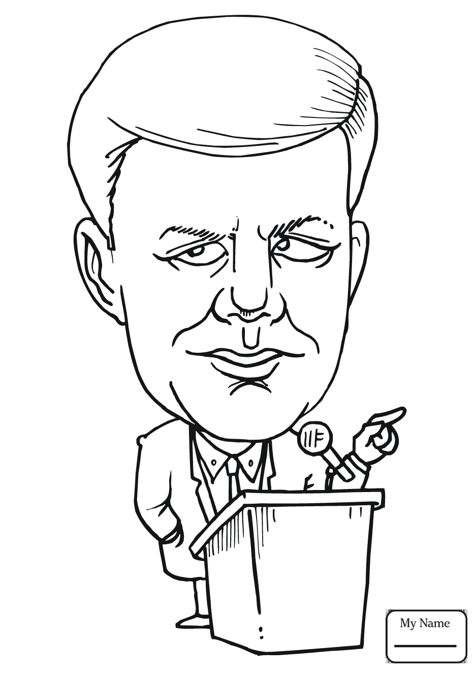 937x1326 Theodore Roosevelt Coloring Page