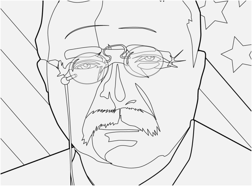 827x609 Printable Coloring Pages Us Presidents Pics Theodore Roosevelt