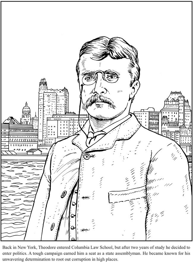 650x890 Teddy Roosevelt Coloring Book Dover Publications Coloring