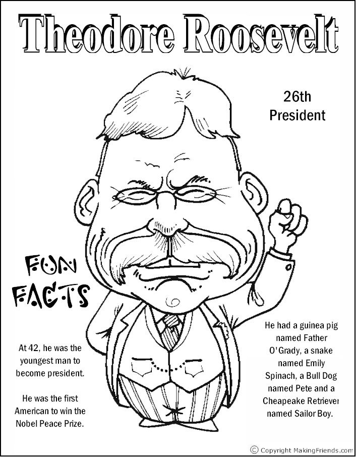 706x906 Teddy Roosevelt Coloring Pages