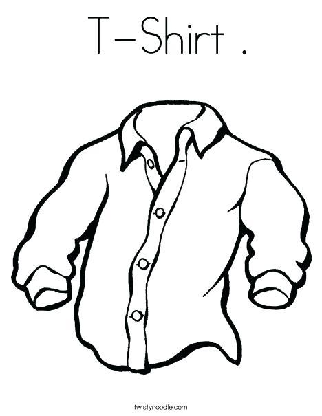 468x605 Tshirt Coloring Page Coloring Page Coloring Shirt Tee Shirt