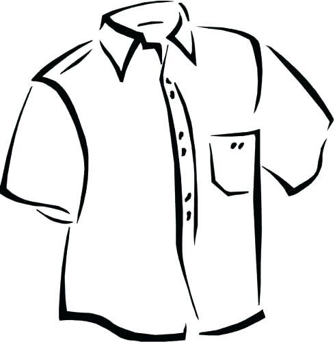 Tee Shirt Coloring Page At Getdrawings Com