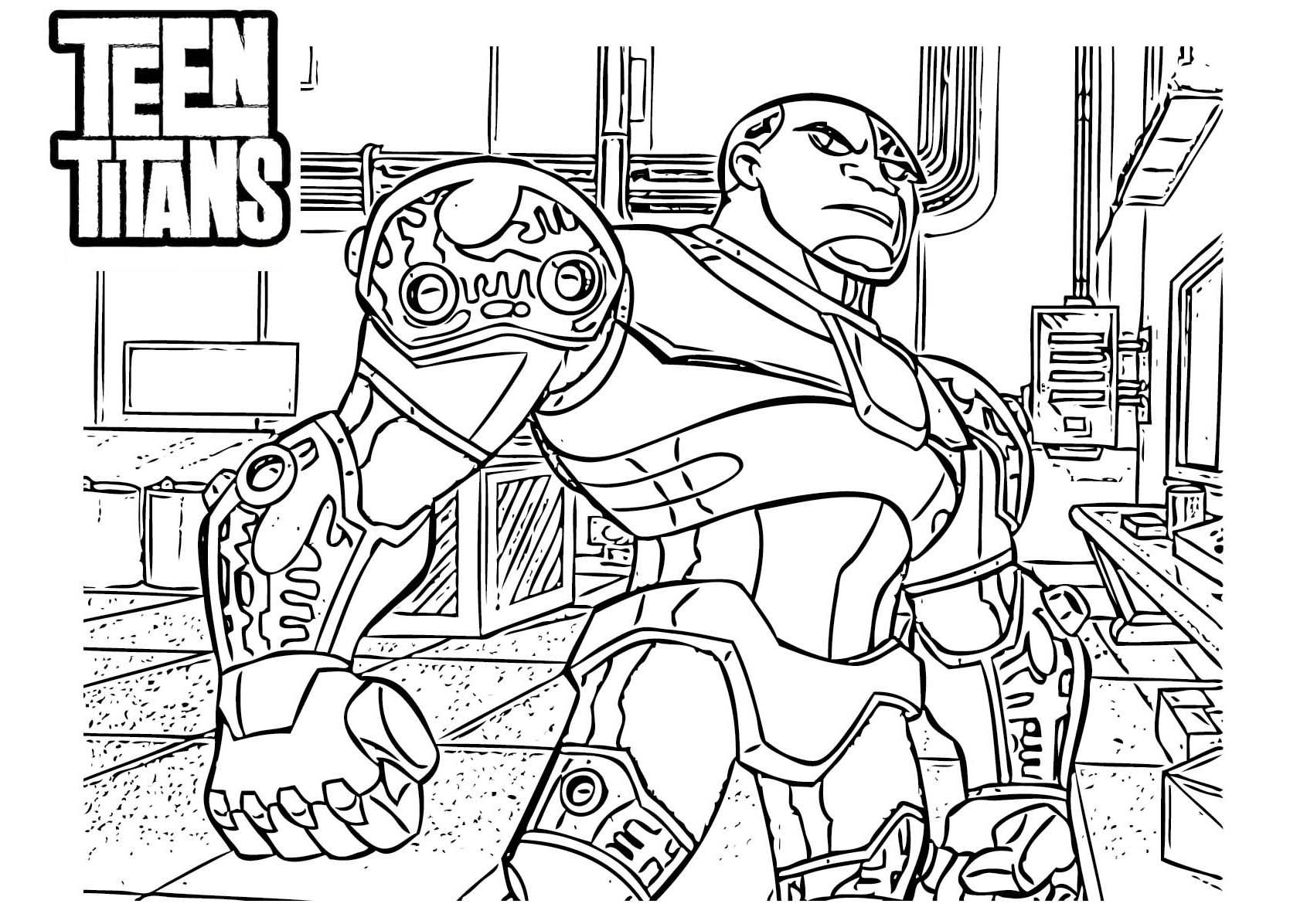 1691x1196 Cyborg Teen Titans Coloring Pages Coloring