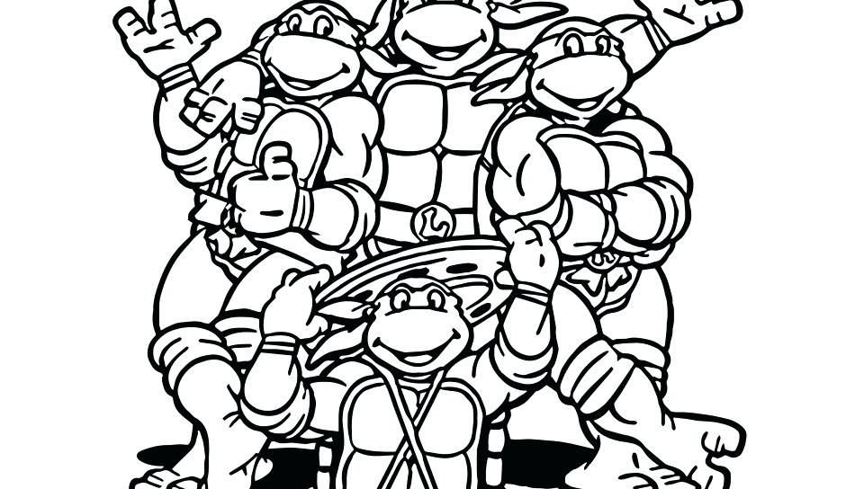 960x544 Ninja Turtles Christmas Colouring Pages Cute Turtle Coloring Pages