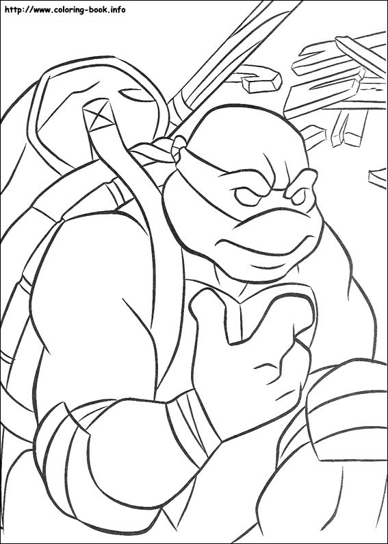 567x794 Teenage Mutant Ninja Turtles Coloring Pages On Coloring