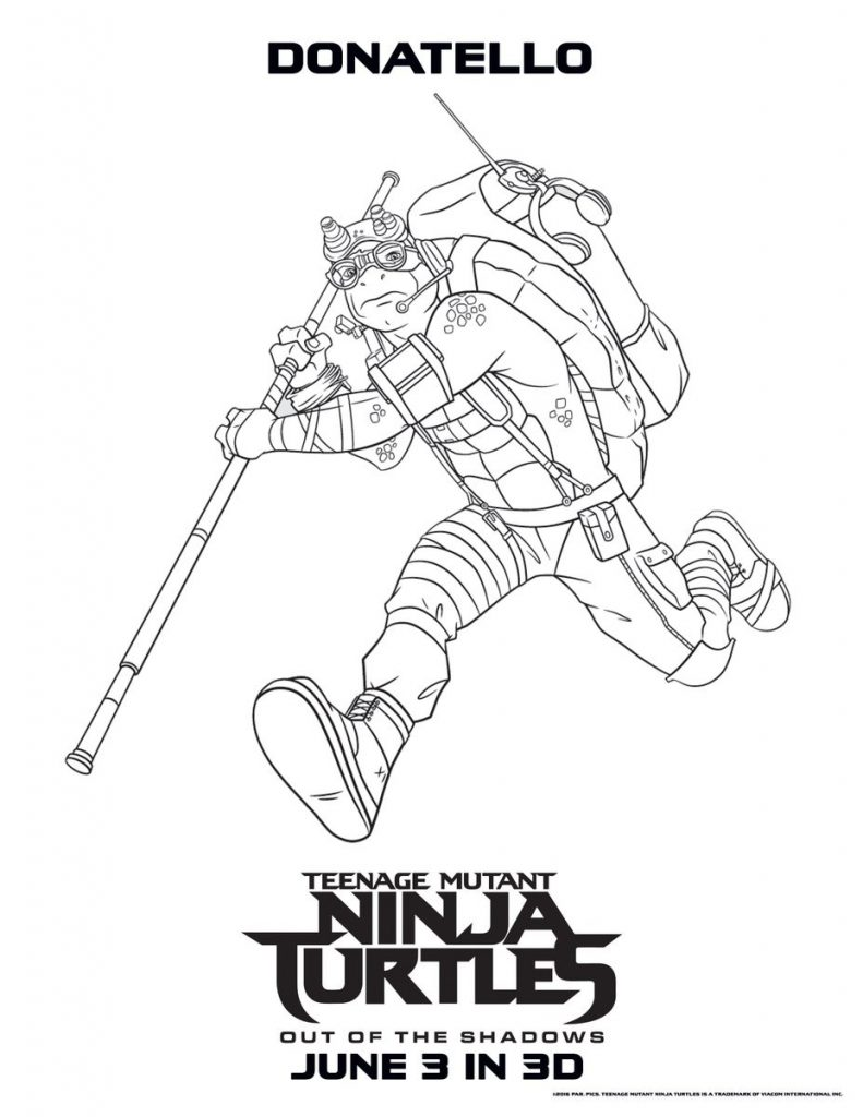 791x1024 Ninja Turtles Coloring Pages Donatello Best Of Donatello Coloring
