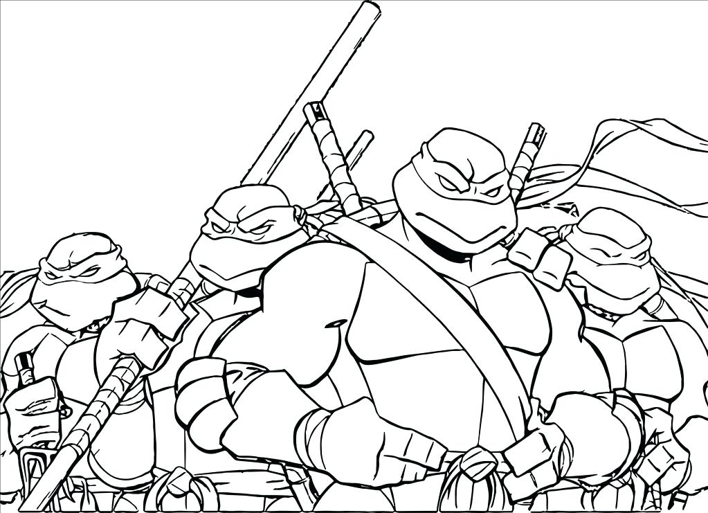 1023x741 Ninja Turtles Coloring Pages Ideal Ninja Turtle Coloring Pages