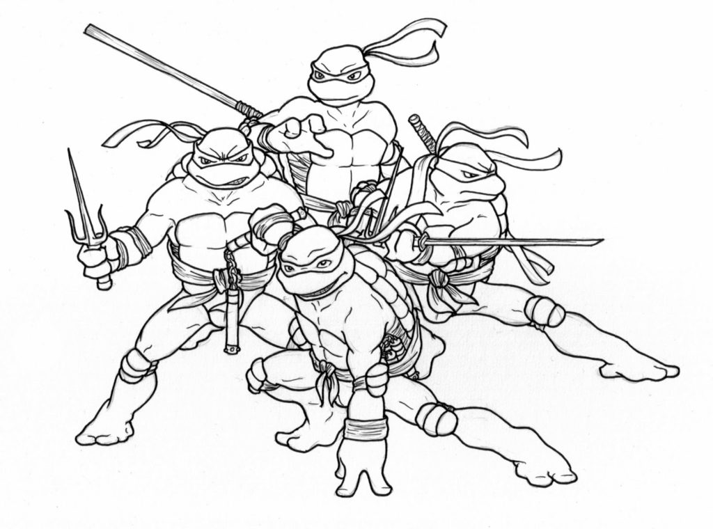 1024x760 Coloring Pages Tmnt Coloring Pages Pictures Colorine Teenage