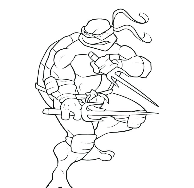 800x777 Teenage Mutant Ninja Turtles Coloring Pages Donatello Page