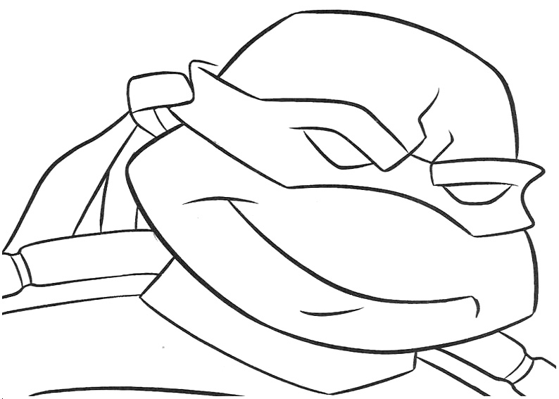Teenage Mutant Ninja Turtles Coloring Pages Leonardo