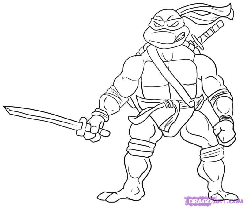 800x681 Teenage Mutant Ninja Turtles Coloring Pages
