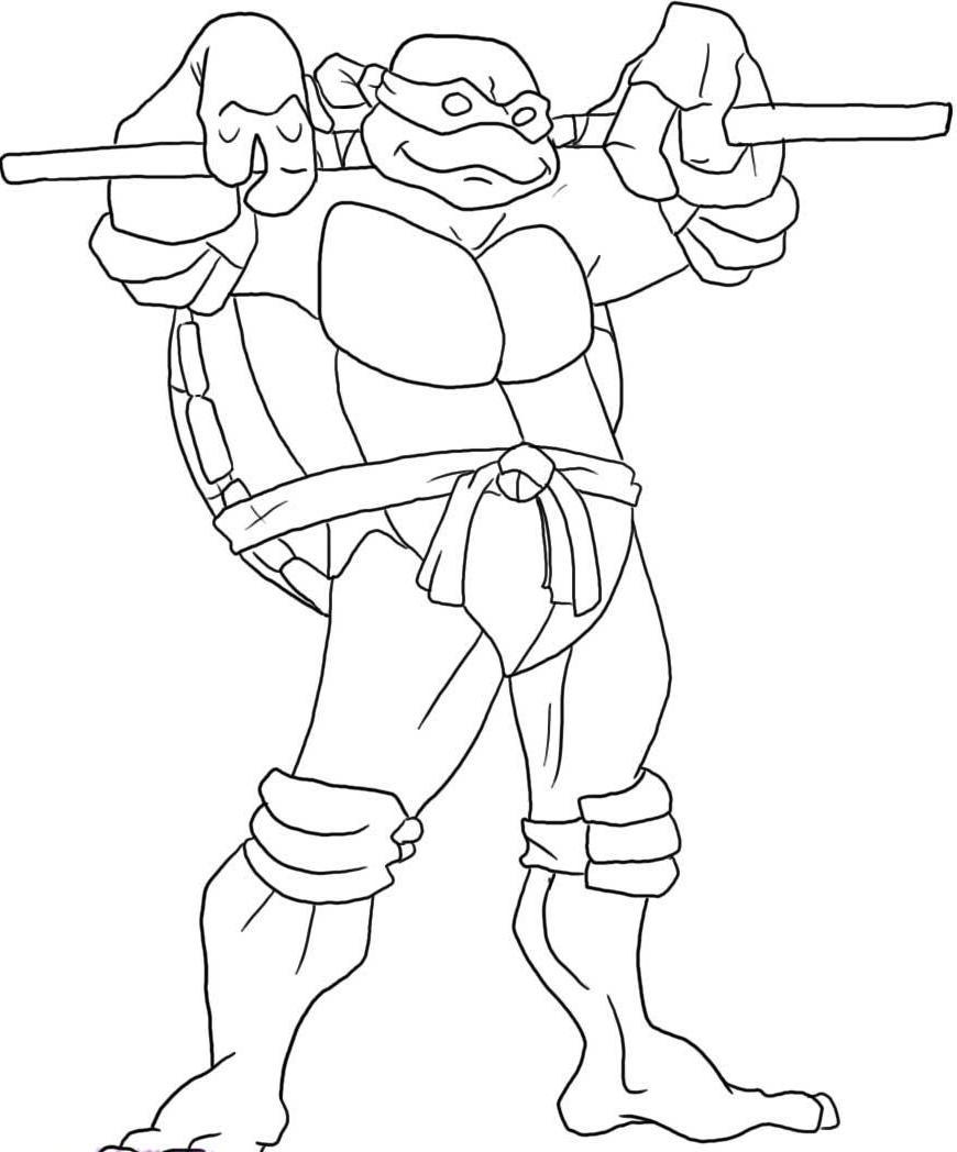 870x1048 Teenage Mutant Ninja Turtles Coloring Pages Leonardo
