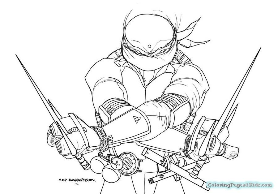 899x627 Teenage Mutant Ninja Turtles Coloring Pages Leonardo Coloring