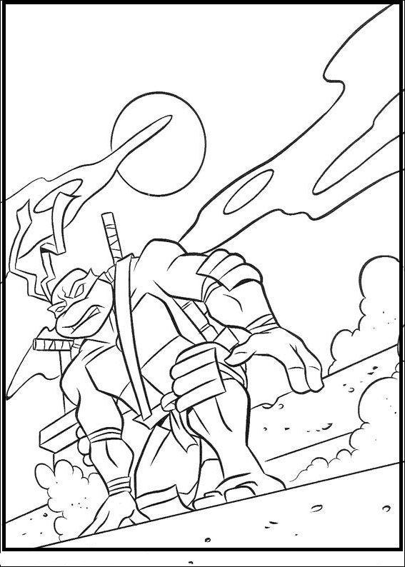 567x794 Teenage Mutant Ninja Turtles Leonardo Coloring Picture For Kids