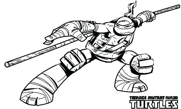 600x362 Ninja Turtles Coloring Pages
