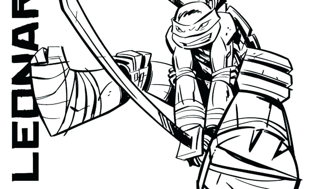 1048x632 Teenage Mutant Ninja Turtles Coloring Pages Leonardo