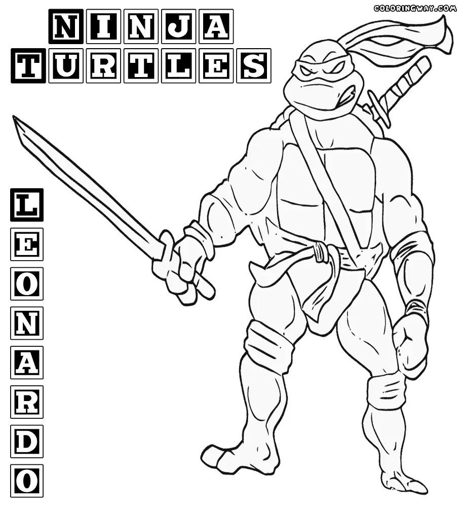 914x1000 Last Chance Leonardo Teenage Mutant Ninja Turtles Coloring Pages