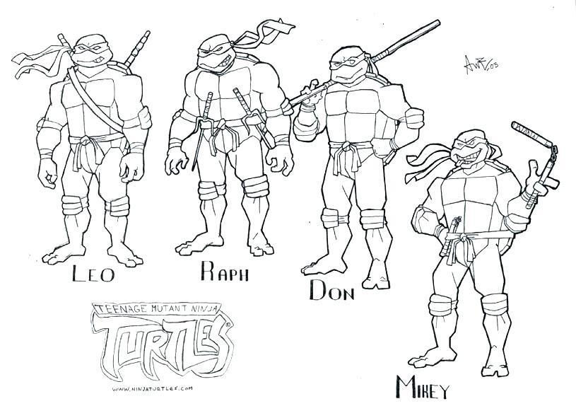815x574 Ninja Turtles Coloring Pages Printable S S Teenage Mutant Ninja