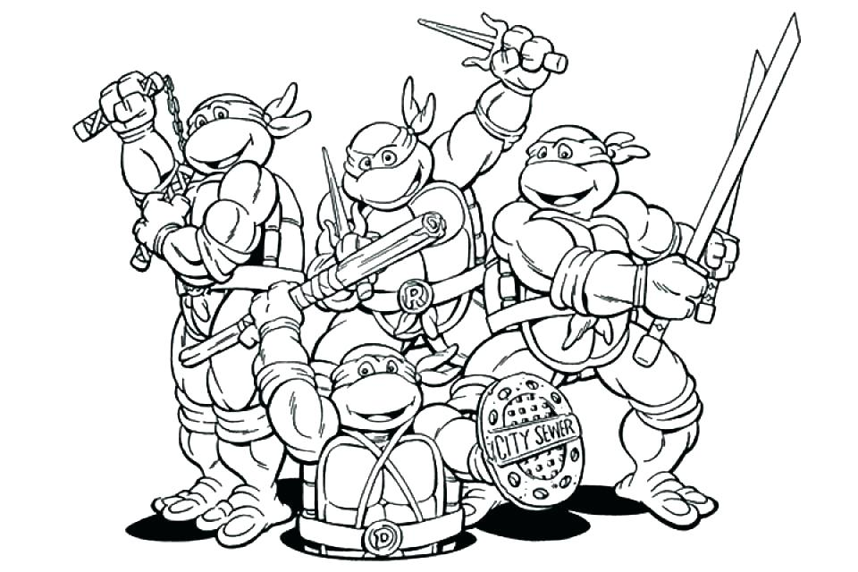 960x640 Ninja Turtles Pictures To Color Also Ninja Turtles Coloring Pages