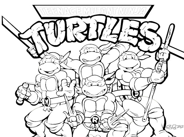 600x449 Pictures Of Ninja Turtles Colouring Pages Studying Teenage Mutant