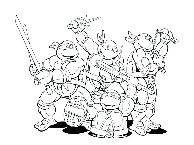 736x549 Printable Coloring Pages Teenage Mutant Ninja Turtles