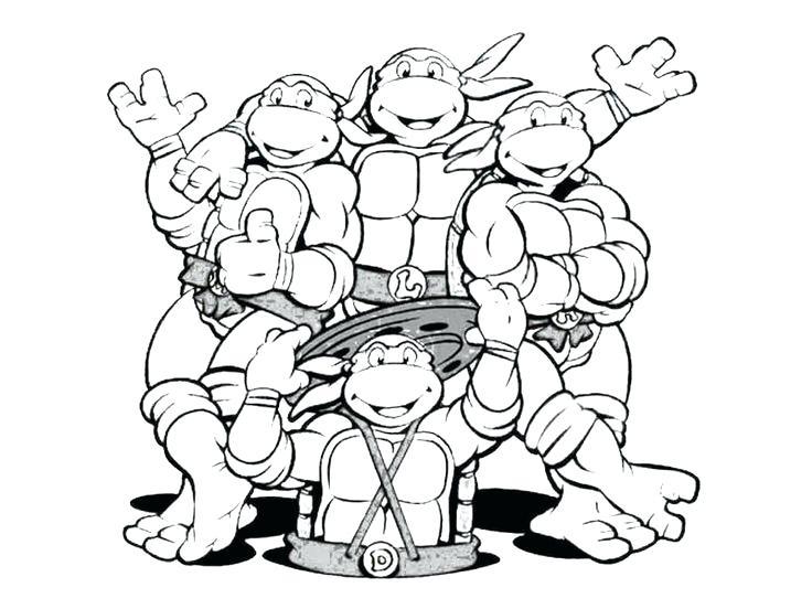 736x552 Teenage Mutant Ninja Turtles Coloring Pages Printable Simple Ninja