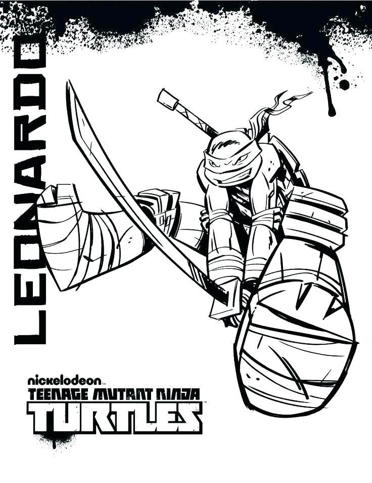736x954 Teenage Mutant Turtles Coloring Pages Coloring Pages For Ninja