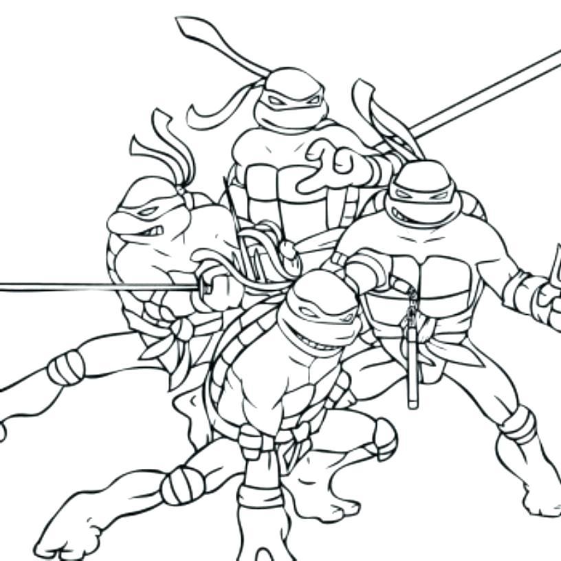 816x816 Ninja Turtle Coloring Page Ninja Coloring Pages Teenage Mutant
