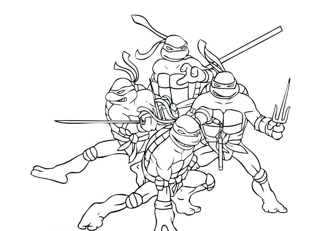 1024x745 Ninja Turtle Coloring Pages Teenage Mutant Ninja Turtles Coloring