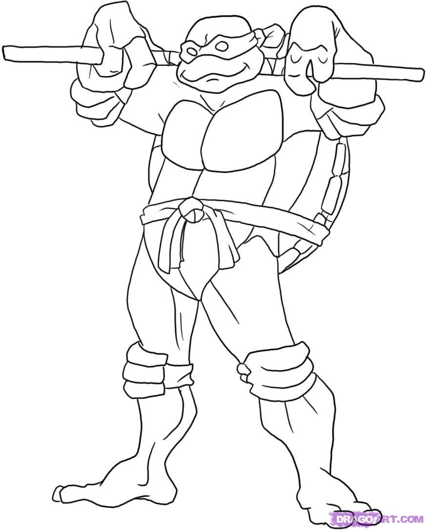 873x1085 Ninja Turtles Coloring Pages Donatello New Teenage Mutant Ninja